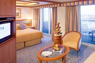 Suite cabin on Crown Princess