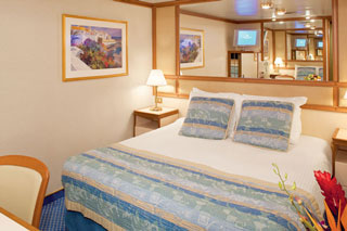 Inside cabin on Emerald Princess