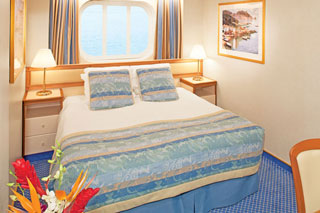 Oceanview cabin on Ruby Princess