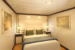 Inside cabin on Royal Princess