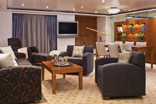Suite cabin on Seven Seas Voyager
