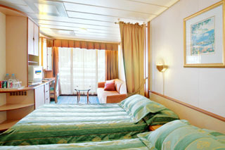 Superior Oceanview Stateroom with Balcony on Legend of the Seas
