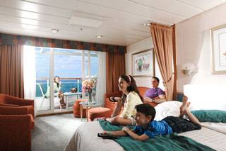 Family Junior Suite on Legend of the Seas