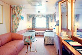 Large Oceanview Stateroom on Splendour of the Seas