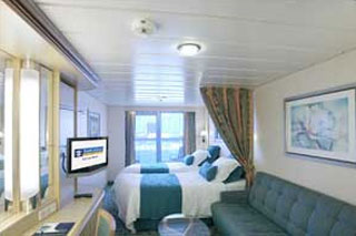Superior Oceanview Stateroom with Balcony on Freedom of the Seas