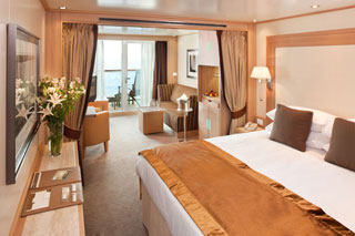 Suite cabin on Seabourn Sojourn