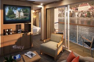 Suite cabin on Viking Aegir