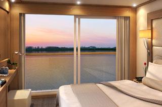 Oceanview cabin on Viking Aegir