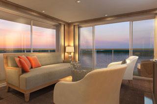 Suite cabin on Viking Var