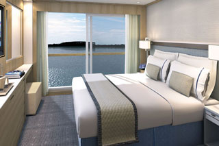 Oceanview cabin on Viking Magni