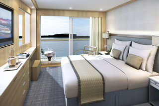 Balcony cabin on Viking Gullveig