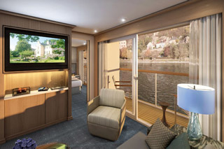 Suite cabin on Viking Kara