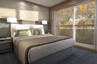 Oceanview cabin on Viking Beyla