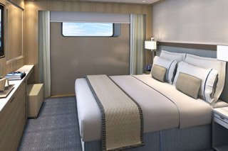 Oceanview cabin on Viking Vili
