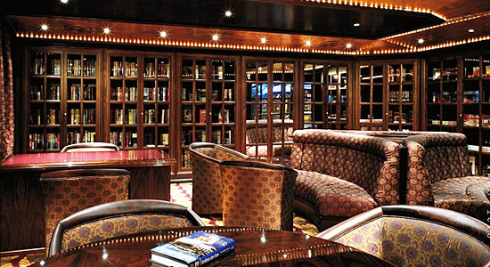 Library on Carnival Triumph