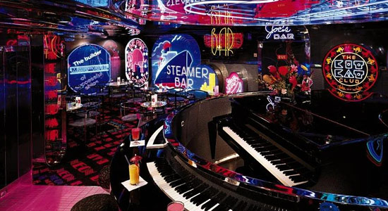The Neon Piano Bar on Carnival Ecstasy