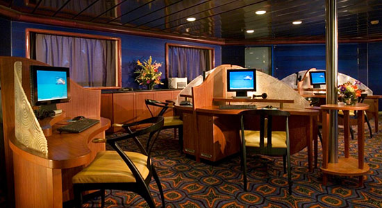 Internet Cafe on Carnival Pride