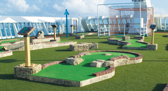 Mini Golf on Carnival Spirit