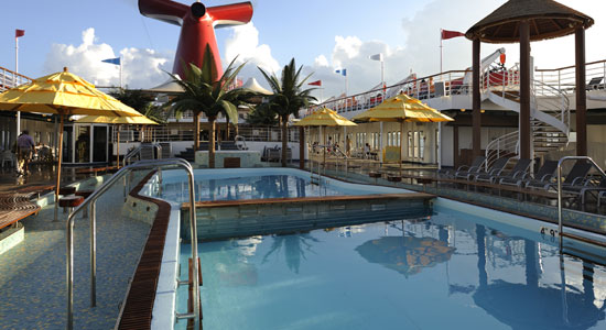 Resort Style Pool on Carnival Paradise