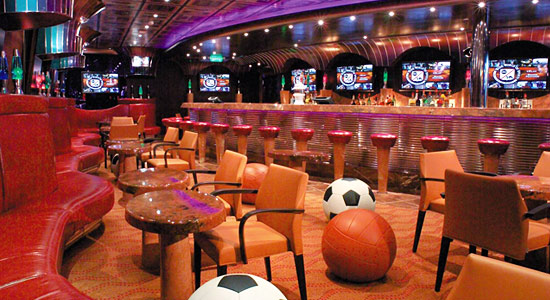 Players Sports Bar on Carnival Freedom