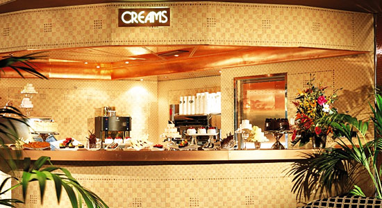 Creams Cafe on Carnival Glory
