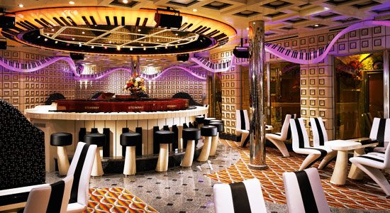Piano Man Bar on Carnival Liberty