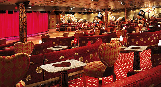 Mad Hatter's Ball Lounge on Carnival Miracle