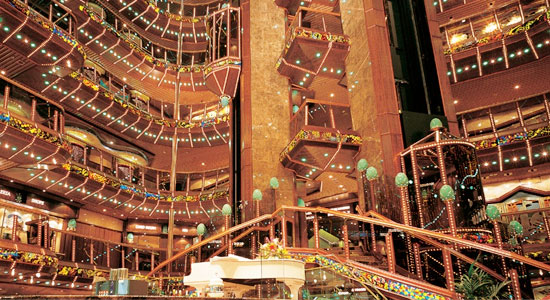 Lobby and Atrium Bar on Carnival Paradise