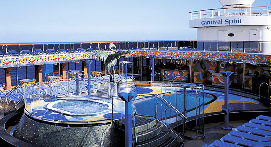 Fantail Aft Pool on Carnival Spirit