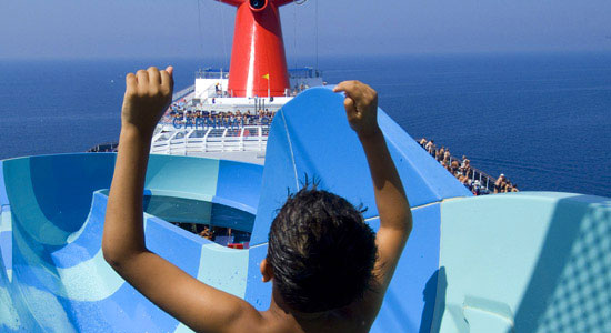 Slide Entrance on Carnival Pride