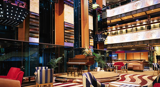Lobby and Atrium Bar on Carnival Valor