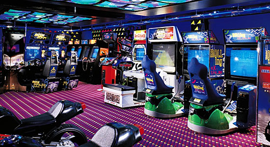 Video Arcade on Carnival Miracle
