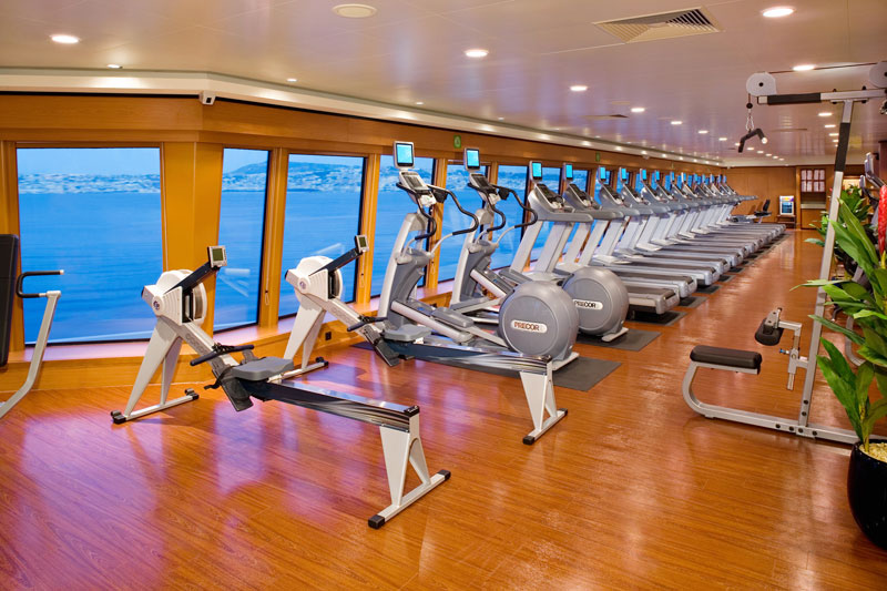 Fitness Center on Norwegian Jewel