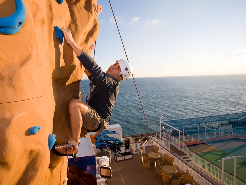 Climbing Wall on Norwegian Epic