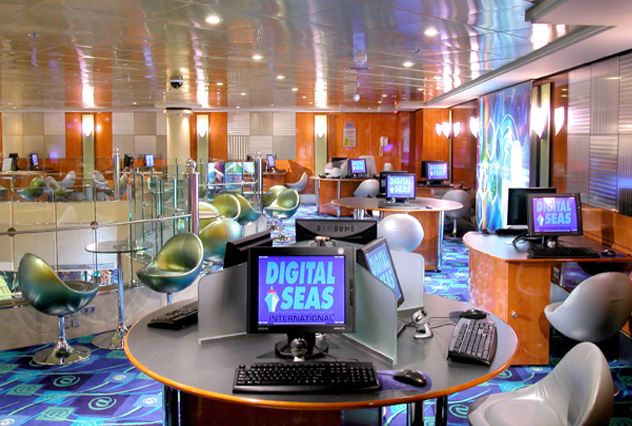 Internet Cafe on Norwegian Dawn