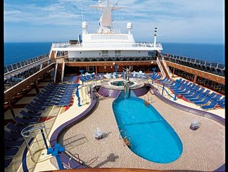 Ulysses Main Pool on Carnival Miracle