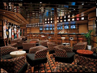 The Champions' Sports Bar on Carnival Spirit
