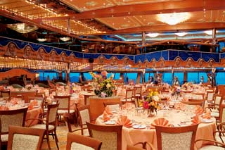 Atlantic and Pacific Dining Rooms on Carnival Victory
