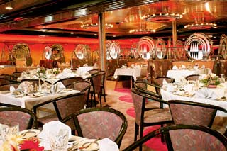 Wind Star & Wind Song Dining Rooms on Carnival Ecstasy
