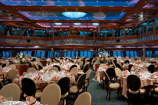 Monet & Renoir Restaurants (Main Dining Rooms) on Carnival Conquest