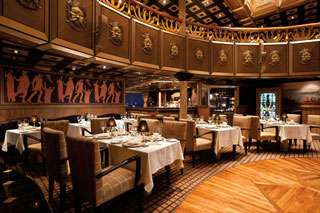 The Golden Fleece Steakhouse on Carnival Legend