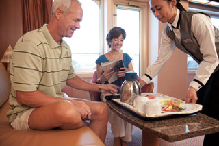 Room Service on Carnival Imagination