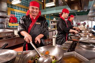 Mongolian Wok on Carnival Inspiration