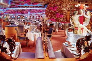 Bacchus Dining Room on Carnival Miracle