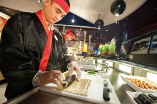 Origami Sushi Bar on Carnival Liberty