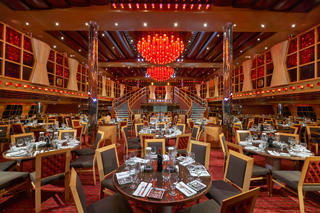 The Crimson and Scarlet Restaurants on Carnival Dream