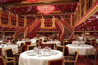 Northern Lights and Southern Lights Dining Rooms on Carnival Magic