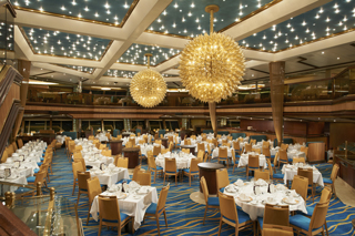 Sunrise Dining Rooms on Carnival Sunshine