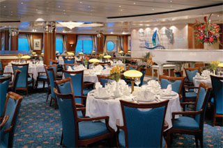 Crossings Main Dining Room on Norwegian Sky