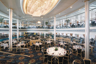 Aquarius Dining Room on Vision of the Seas